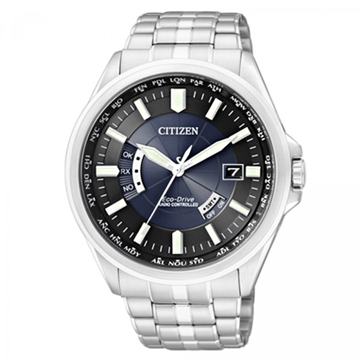 8a149a9b332 Relógio Citizen Eco-Drive Radio Controlled CB0011-51L - Grife Relógios