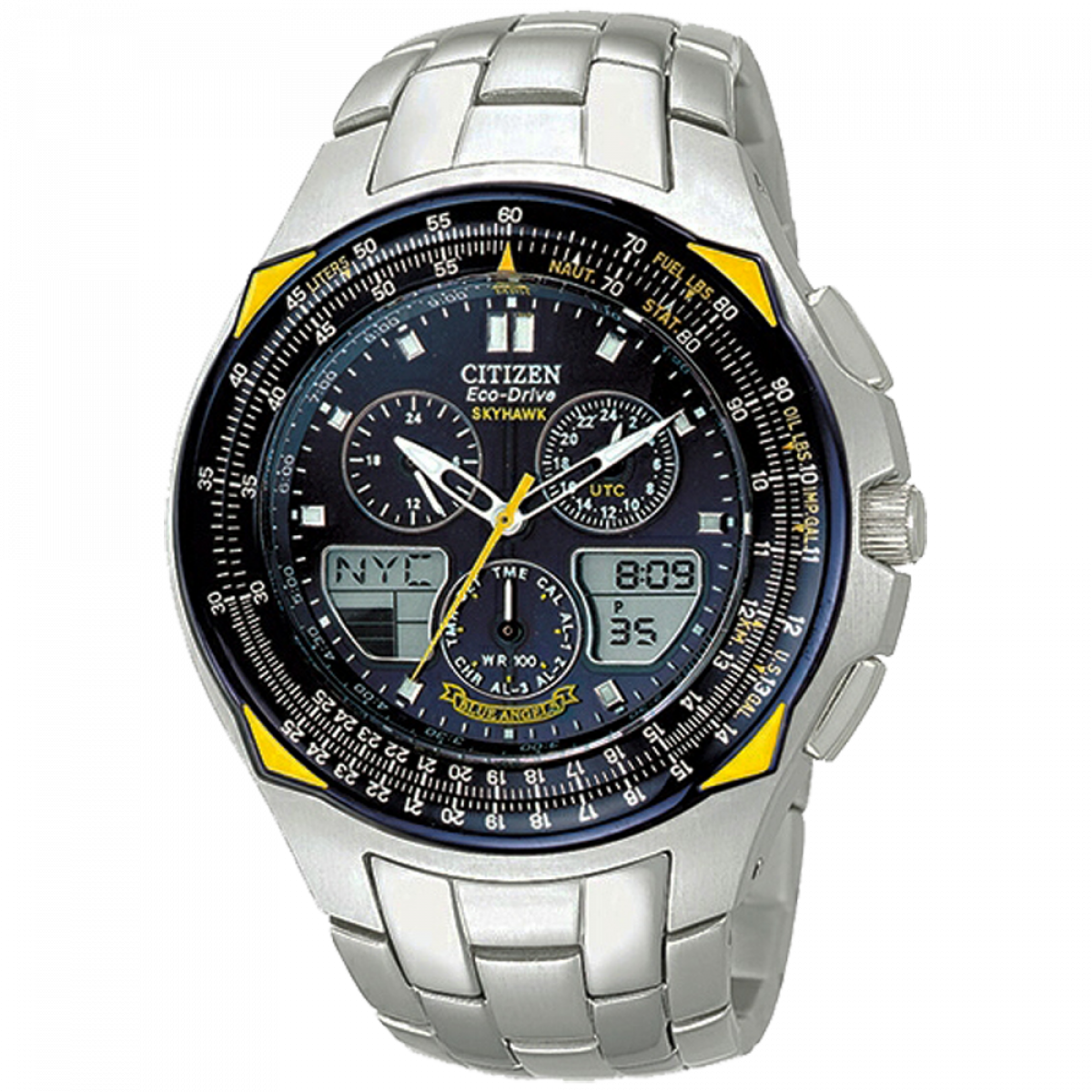 a30500190d0 Relógio Citizen Skyhawk Blue Angels JR3080-51M - Grife Relógios
